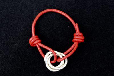 00114 Bracelet argent 925 et cuir
