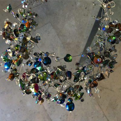00351 Tour de cou «cosmique» perles Swarovski