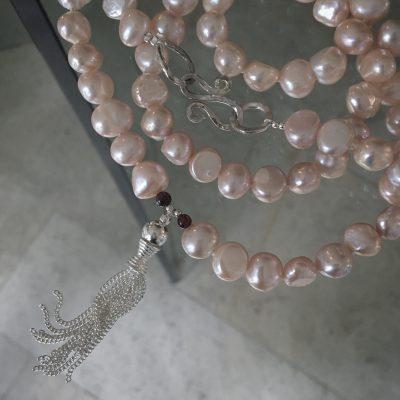 00371 sautoir argent 925 et perles d'eau douce