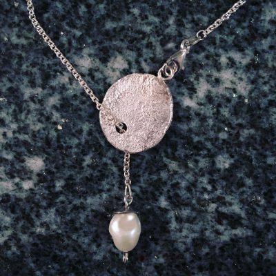 392 Collier argent 925 et perle d'eau douce