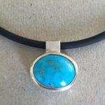 403 Pendentif argent 925 et turquoise d'Iran